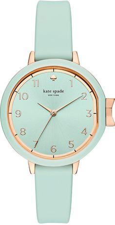 Kate Spade Women's Park Row Cirrus Blue Silicone Strap Watch 34mm KSW1314
