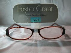 b4105a8d06c Details about Foster Grant Womens Brown Tortoise Fashion Reading Glasses  +1.25 1.75 2.25 2.75. eBay