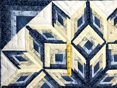 Diamond Log Cabin Quilt -- magnificent skillfully made Amish Quilts from Lancaster (wh2411)