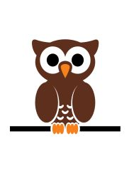 Clipart - owl on wire