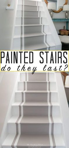 Pros and Cons of Painted Stairs: How do they hold up over the years? Pros and Cons of Painted StairYou can find Painted stairs and more on our website.Pros and Cons of Painted Stairs: How do they hold up over the years? Pros and Cons of Painte. Painted Wood Stairs, Painted Floors, House Stairs, Carpet Stairs, Laminate Stairs, Flooring For Stairs, Plywood Floors, Basement Stairs, Houses