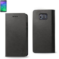 Reiko Flip Case With Card Holder For Samsung Galaxy Alpha Sm-G850A G850F Gray