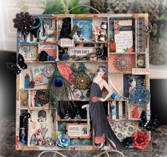 Graphic 45 Couture Altered Printer Tray *Scraps Of Darkness* January Kit~Style & Sophistication - Scrapbook.com