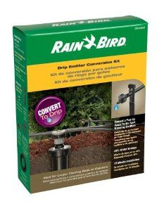 Rain Bird CNV182EMT Sprinkler Conversion Kit From 800 Series Pop-Up to 6 Drip Emitters by Rain Bird. $19.00. Includes conversion head with pressure regulator and filter, plus 6-port manifold. Sprinkler conversion kit for converting pop-up spray head into water-saving drip emitters. Waters flower beds, shrubs, and other garden plants with pinpoint accuracy. Reduces water use up to 40 percent compared to spray irrigation; requires capping other heads in zone. Conversi...