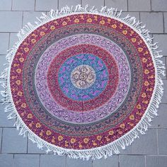 Mandala Tapestry  6 feet  Multi Circle Design by SparkleRockPop