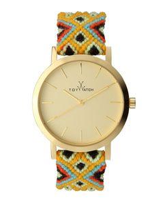 Toy Watch Maya Yellow Golden Watch with Crochet Band - Yellow/Multi #toywatch #toywatchturkiye #toywatchfiyat #toywatchmodelleri #toywatchiletisim