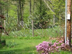 Bicycle Wheel Fence