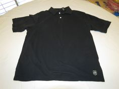 Mens Nat Nast Luxury Original M black short sleeve polo shirt casual GUC@ #NatNast #PoloRugby