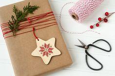 Kit de DIY / / Cross Stitch adorno / escandinavo inspirado Star / / ornamento de…