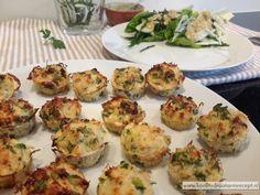 Mini viskoekjes zijn trouwens ook uitstekend geschikt als gezonde snack op een feestje. Of met zeekraal met venkel en je hebt een volledige maaltijd! Low Carb Recipes, Healthy Recipes, Mini Muffins, Baked Potato, Potato Salad, Zucchini, Paleo, Gluten Free, Chicken