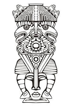 Pour imprimer ce coloriage gratuit «coloriage-totem-inspiration-inca-maya-azteque-6», cliquez sur l'icône Imprimante situé juste à droite