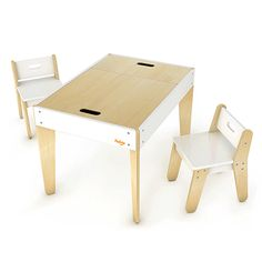 Pkolino Little Modern Toddler Table and Chairs White