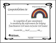 Bridging Brownies to Juniors