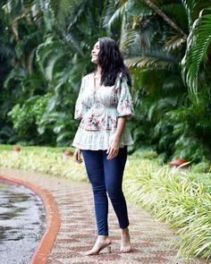Bell Sleeves, Bell Sleeve Top, All Actress, Beautiful Actresses, Peplum, Capri Pants, September, Tops, India