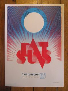 screenprinted gigposter - The Datsuns live at The Haunt, Brighton