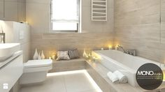Jasne przestronne wnętrza domu w Waganowicach dają poczucie spokoju i sprzyjają relaksowi - zdjęcie od Monostudio Wnętrza - Łazienka - Styl Nowoczesny - Monostudio Wnętrza
