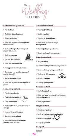 Checklist voor je trouwfeest Budget Wedding, Wedding Tips, Wedding Planner, Cute Wedding Ideas, Perfect Wedding, Wedding Inspiration, Baby Wedding, Our Wedding, Dream Wedding