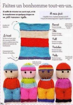 knitting projects for babies * knitting projects . knitting projects for beginners . knitting projects for babies . knitting projects for the home Baby Knitting Patterns, Knitted Doll Patterns, Loom Knitting Projects, Knitted Dolls, Knitting For Kids, Loom Patterns, Crochet Patterns, Knitting Wool, Easy Knitting