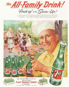 1952 Seven 7 Up outside Barbeque BBQ PRINT AD | eBay