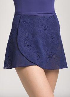 502KL Wrap Skirt Kara Lace Purple Front