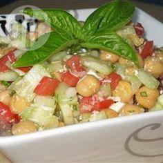 Salade de pois chiches à la mode grecque @ qc.allrecipes.ca