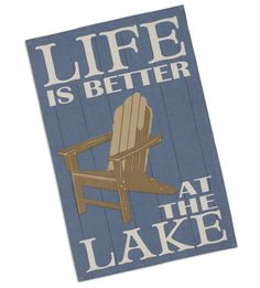DII Design Imports Kitchen Towel Life Is Better At the Lake Printed Dishtowel. 18 X Cotton Hanging Loop. Lake Painting, Pallet Painting, Dish Towels, Tea Towels, Dining Table In Kitchen, Lake Life, Cool Kitchens, Small Kitchens, Kitchen Towels