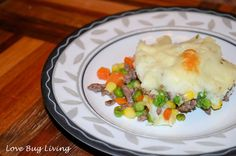 Shepherd's Pie (Cottage Pie) Quick and easy dinner meal idea.  Feingold Friendly stage 1.