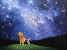 """The Wonder of it All"" by Schim Schimmel Disney And Dreamworks, Winnie The Pooh, Walt Disney, Art Work, Disney Characters, Fictional Characters, Disney Princess, Painting, Artwork"
