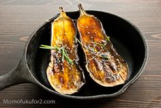 Miso Glazed Eggplant Recipe: going to have to try this tonight.