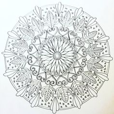 Learn to draw a nature inspired Mandala