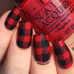 Must Try Fall Nail Designs and Ideas ★ See more: http://glaminati.com/must-try-fall-nail-designs-ideas/ Fall Nail Designs, Plaid Nail Designs, Cool Designs, Christmas Nails, Green Christmas, Plaid Nail Art, Plaid Nails, Fall Nail Art, Fall Nail Ideas Gel
