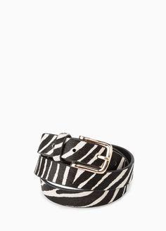 Mango Outlet MANGO OUTLET Zebra Leather Belt