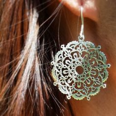 Adorable silver Earings Lace of life.Amorem. Sterling silver. Made in Russia.
