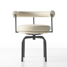 Le Corbusier - The LC7 Swivel armchair (Siège tournant, fauteuil) was originally designed as a dining chair for the Villa Church in 1928 and subsequently exhibited at the 1929 Salon d'Automne in Paris.