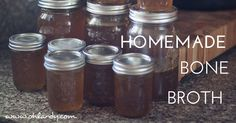 Homemade Beef Broth - www.ohlardy.com  http://ohlardy.com/homemade-bone-broth-a-lost-art