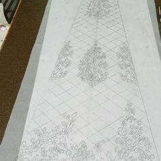 Hand Embroidery Stitches, Hand Embroidery Designs, Beaded Embroidery, Embroidery Patterns, Lace Patterns, Print Patterns, Geometric Stencil, Pencil Design, Sherwani