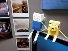 A great idea to do if you're ever bored. Make finn and jake into box shaped 3-D figures!