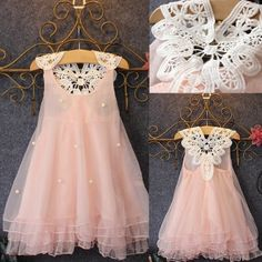Girls' Clothing (Sizes 4 & Up) Flower Girls Princess Dress Kids Baby Party Pageant Lace Tulle Tutu Dresses Baby Girl Party Dresses, Lace Party Dresses, New Party Dress, Little Girl Dresses, Baby Dress, Girls Dresses, Tutu Dresses, Baby Party, Pageant Dresses
