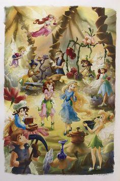 Tinkerbell And Friends, Tinkerbell Fairies, Disney Fairies, Pixie Hollow, Old Disney, Disney Art, Tinkerbell And Terence, Princesas Disney Dark, Tinkerbell Wallpaper