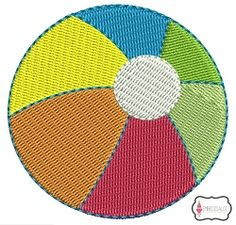 Beach Ball Mini - 5 Sizes! | What's New | Machine Embroidery Designs | SWAKembroidery.com Embroidalot