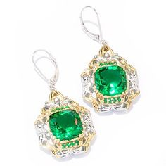 118-003 - Gems en Vogue II ''Ekaterina'' Brazilian-Cut Quartz Doublet Earrings