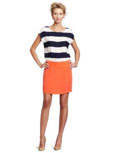 Ali Ro Women's Stripe Combo Dolman Sleeve Dress