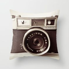 a perfect gray camera pillow!