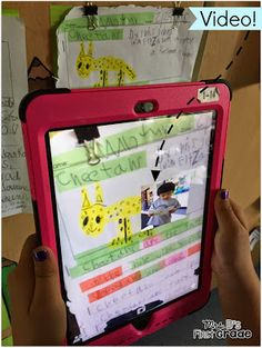 AR (Augmented Reality) Book Reviews in a first grade classroom. See how they did it!