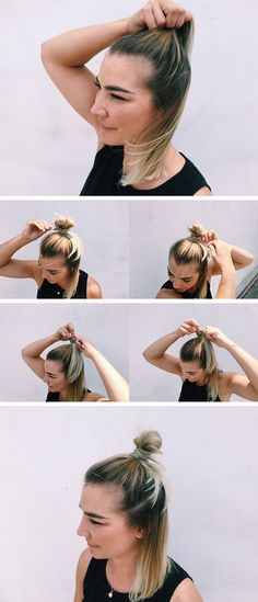 5 Simple Workout Hairstyles from a Beauty Guru | Half Up/Half Down (With a Twist) | Athleta Chi Blog