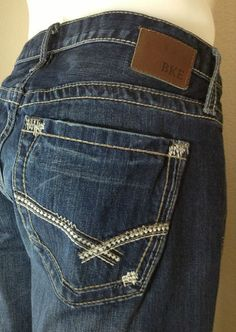 BKE Denim Jeans Men's Derek 33Rx32 Boot Cut  $43.99