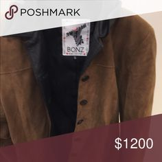 100% Suede Jacket This is a collector couture item from Bonz Australia made of 100% genuine suede with 100% leather interiors. It's a classic yet hip jacket that is the perfect complement to the modern woman's wardrobe. Bonz Australia Jackets & Coats Pea Coats