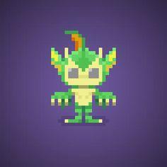 Famous Characters in Pixel Art • Rikuo or Aulbath from Darkstalkers series #rikuo #aulbath #merman #blacklagoon #creature #darkstalkers #capcom #pixelart #pixel #16bit #theoluk #characters #fighting #arcade