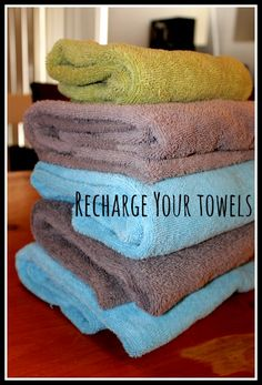 DiscountQueens.com: Recharge Your Towels - Do your towels seem to lose their fluff and coziness after months and months of washing?  With just 2 simple pantry ingredients, you can have your towels cozy and fluffy once again!
