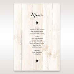 Brown Rustic Woodlands - Menu Cards - Wedding Stationery - 6
